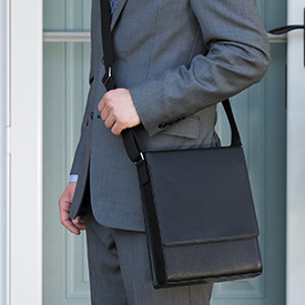 Vertical Messenger Bag across the body