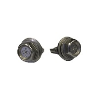Hex washer head screws with bonded washer