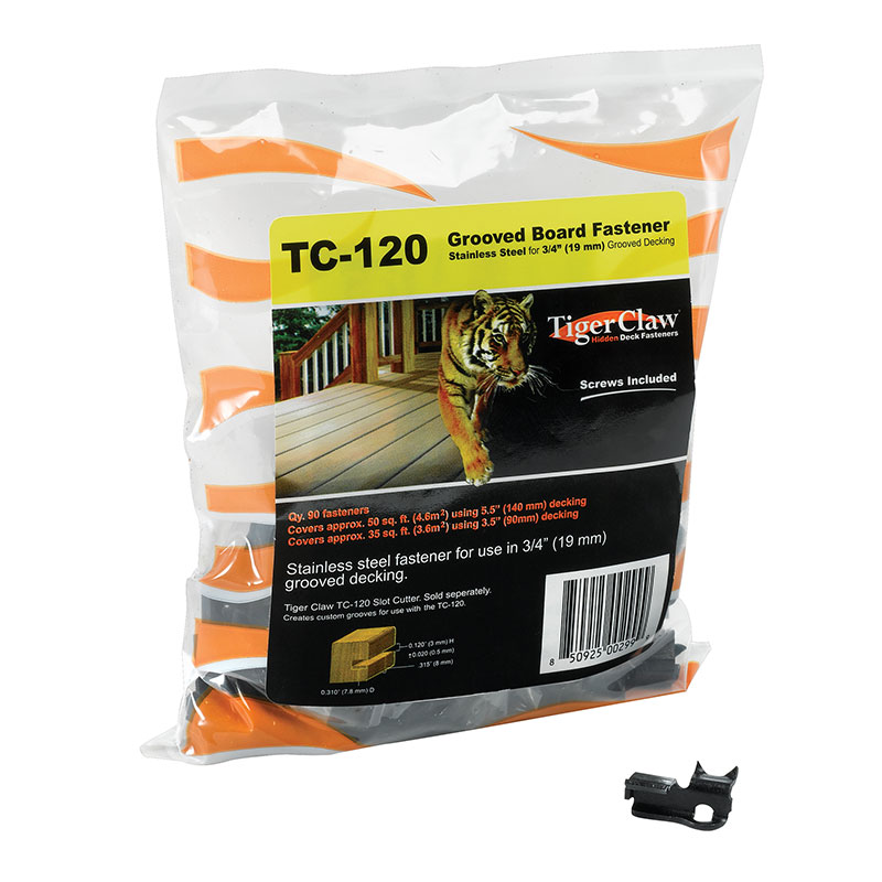 "Tiger Claw TC-120 for Grooved Decking 3/4""+ Thick 90 pc Kit"