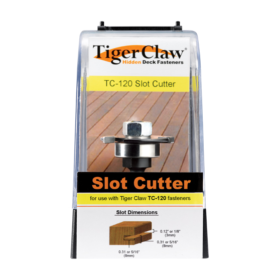 Tiger Claw TC-120 Slot Cutter for Ungrooved Decking 3/4""