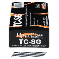 "Tiger Claw TC-SG Scrails (Screw Nails) for TC-G, 6 x 1-1/2"", 930 pcs, Carbon Steel"