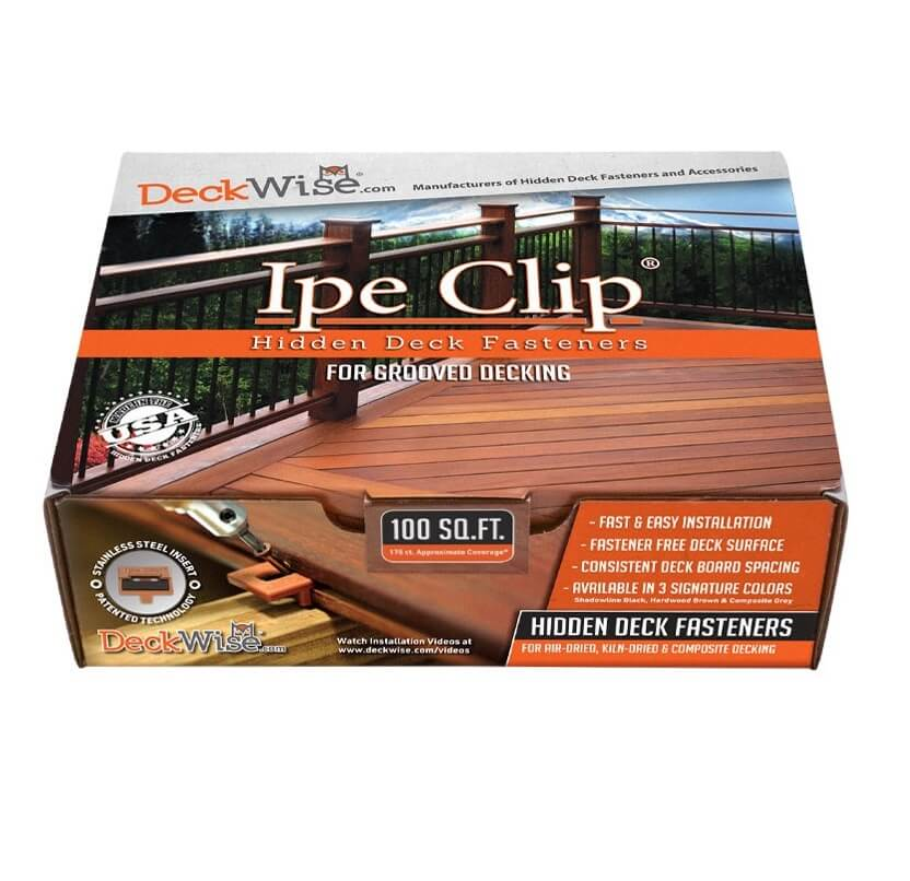 """Deckwise® Ipe Clip® ExtremeKD® for 1/4"""" Spacing"""