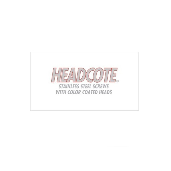 Headcote Stainless Steel Screws with Color Coated Heads