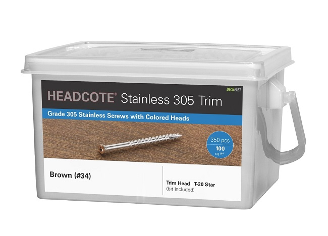 "HEADCOTE® Trim Screw #7 x 2-1/4"" 305 Stainless Steel"