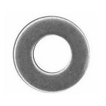 Stainless Steel Flat Washers - 1/4