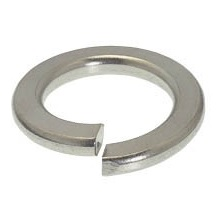 Stainless Steel Split Lock Washers - 1/4
