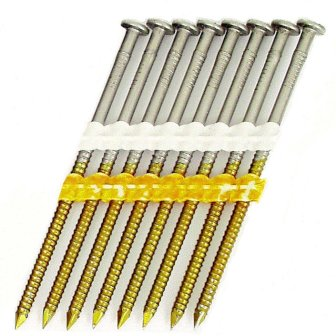 Full Round Head Plastic Strip Nails - 20-22° - Type 304 Stainless Steel