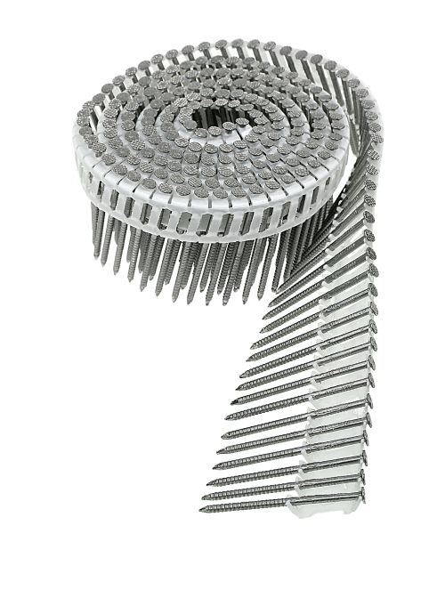 Siding Nails - Inserted Plastic Coil