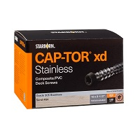 "Cap-Tor® XD Composite Deck Screws- #10 x 2-1/2"" - 305 Stainless Steel"