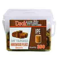 3/8 Tapered Hardwood Ipe Plugs - Smooth