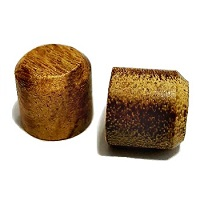 Hardwood Ipe Plugs with chamfered ends 3/8 diameter