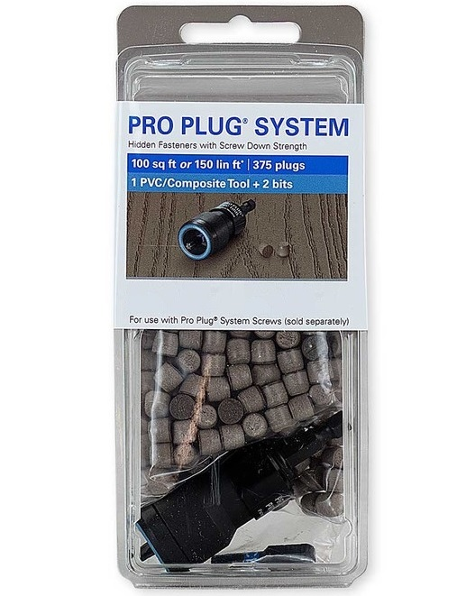 Pro Plug for PVC Decks - Plugs + Tool (Your Choice of Screws)