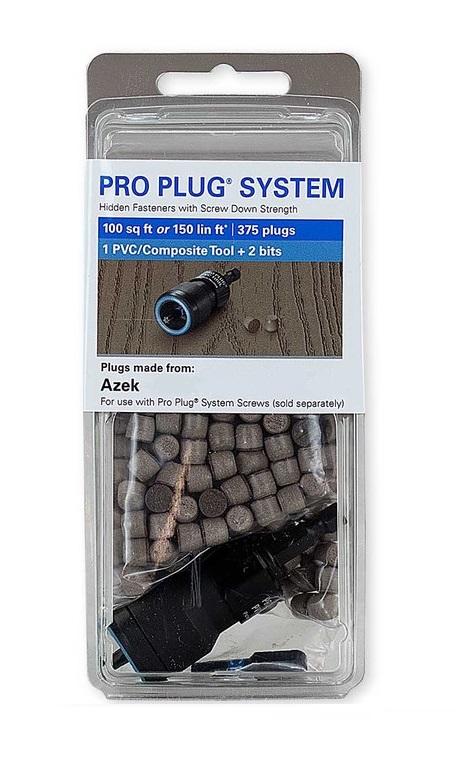 Pro Plug® for Azek Decks - 375 Plugs + Tool