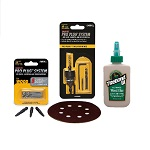 Pro Plug System Starter Kit-PRo Plug Tool for Wood, glue, bits and sandpaper