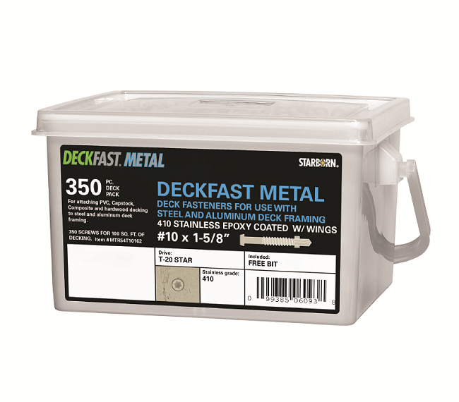 Deckfast Metal Screws attach  PVC, composite, capstock, or hardwood decking to steel and aluminium substructures.