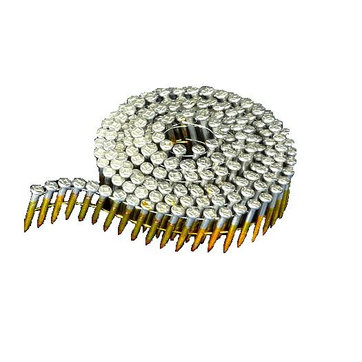 15° Knurled Galvanized Wire Coil Ballistic Pins