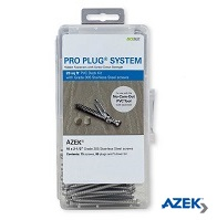 Pro Plug System For Azek with Stainless Steel Screws 20 sq ft kit