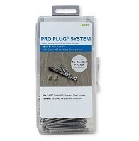 Pro Plug® System with Stainless screws for use with AZEK® Decks