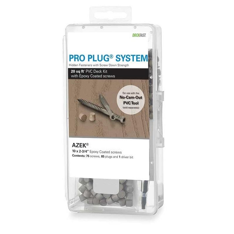 Pro Plug® System Kit for Azek Decks - 20 Sq Ft with Epoxy Screws