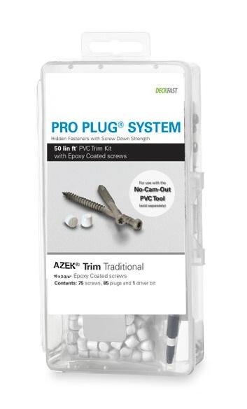 Pro Plug® System Kit for Azek Trim - 50 Lin Ft with Epoxy Screws