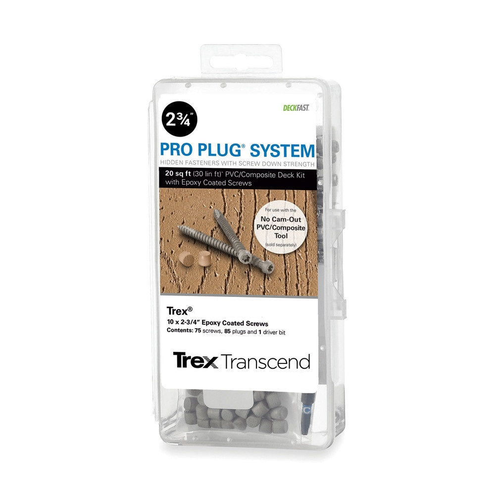 Pro Plug® System Kit for Trex - 20 Sq Ft with Epoxy Screws