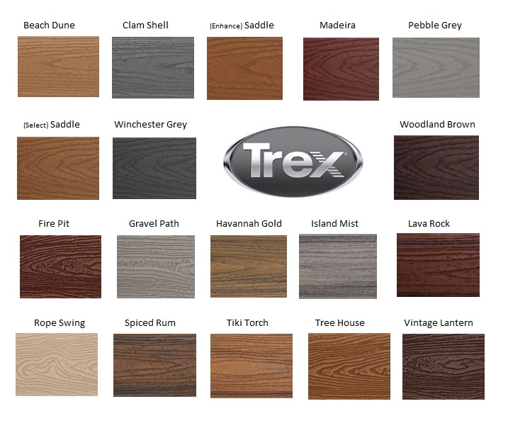 Trex decking colors