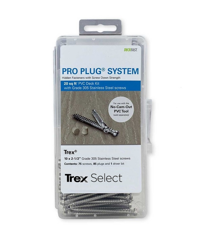 Pro Plug® System Kit for Trex - 20 Sq Ft with Stainless Steel Screws