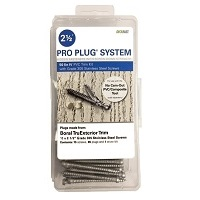 Pro Plug System Kit BORAL® TruExterior® Trim - 50 Lin Ft Stainless Steel Screws