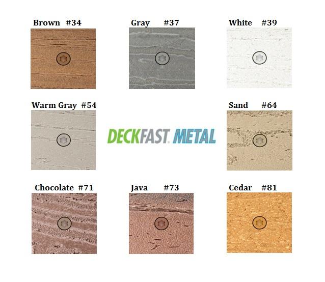 Deckfast Metal Color Chart