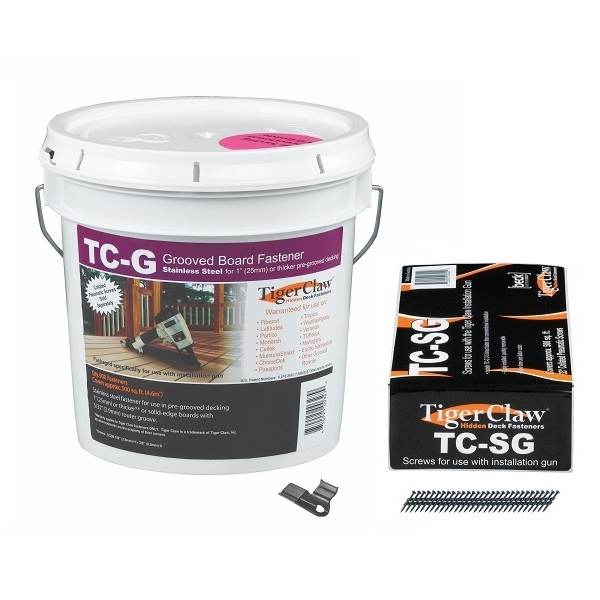 Tiger Claw TC-G Bucket and Scrails (Screw Nails) Combo Kit for 500 sq ft