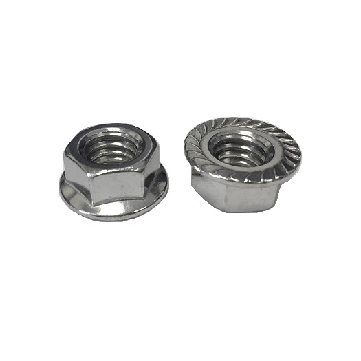 "3/8""-16 Serrated Flange Nut 18-8SS"