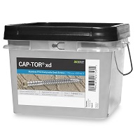 "Cap-Tor® XD Composite Deck Screws - #10 x 2-1/2"" - 316 Stainless Steel, 1750pc"