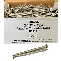 """2-1/4"""" x 10ga A/T Nails 304SS 2-3/4 lb box"""