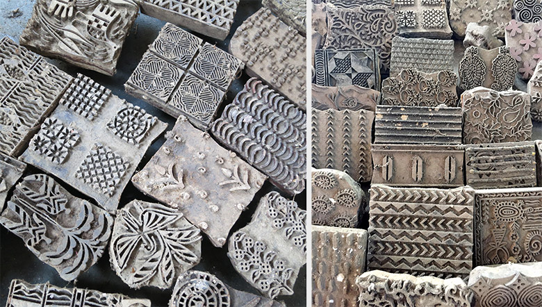 Blocks with patterns