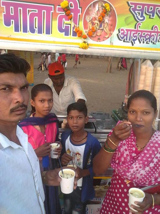 Darshana with family