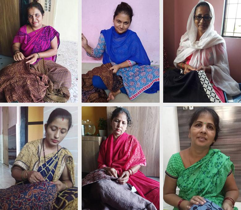 Ghar Udyog Collective embroidery artisans