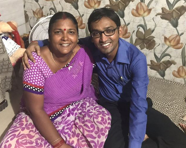 Pushpa with family