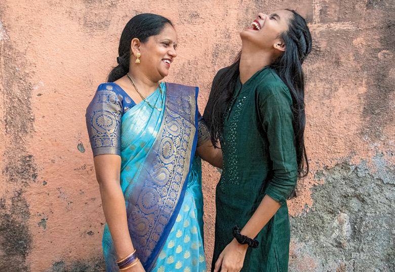 Sarita Singh with her daughter Kavita