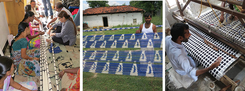 Empowering women handwoven Ikat MarketPlaceIndia com