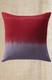 Cushion Cover - Maroon/Grey