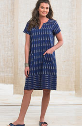 Shaila Dress - Ink ikat