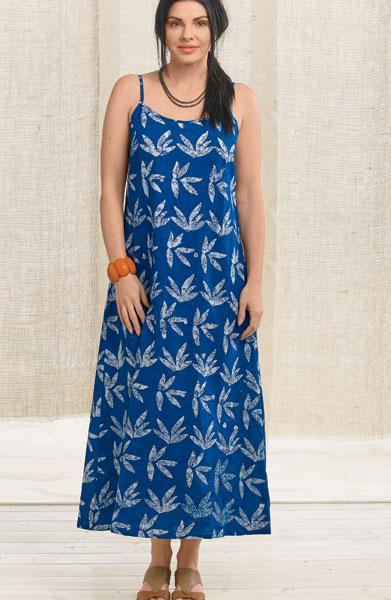 Padma Dress - Cobalt/natural