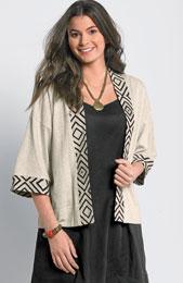 Meera Jacket - Oatmeal/black