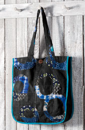 Tote Bag - Blue/Green chindi