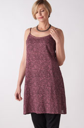 Midi-length Cami - Dusty plum