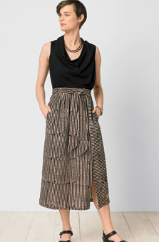 Akila Skirt - Black/tan