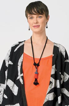 Chindi Tassle Necklace - Peach