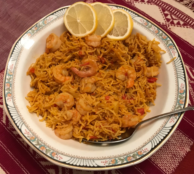 Shrimp Pilav