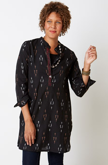 Shirt Tunic- Black multi