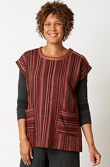 Sameera Knit Top - Heather rosewood